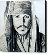 Johny Depp - The Captain Jack Sparrow Canvas Print by Tanmay Singh