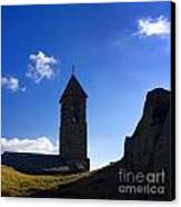 Chapel. Auvergne. France Canvas Print by Bernard Jaubert