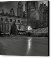 Christmas In Bryant Park Canvas Print