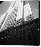 Close In Shot Of The Empire State Building New York City Canvas Print