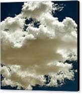 Cloud On Dark Sky. Canvas Print