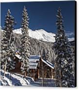 Colorado Mountain House Canvas Print by Michael J Bauer