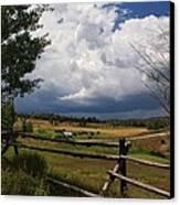 Colorado Ranch Canvas Print by Michael J Bauer