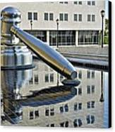 Columbus Ohio Justice Center Canvas Print by Frozen in Time Fine Art Photography