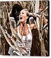 Corn Field Horror Canvas Print