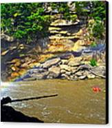 Cumberland Falls Rainbow Canvas Print by Frozen in Time Fine Art Photography
