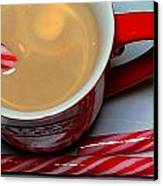 Cup Of Christmas Cheer - Candy Cane - Candy -  Irish Cream Liquor Canvas Print by Barbara Griffin