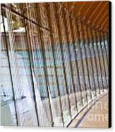 Curved Glass Wall Pattern Canvas Print