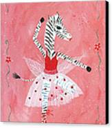 Custom Child's Zebra Ballerina Canvas Print by Kristi L Randall