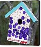Cute Little Birdhouse Canvas Print
