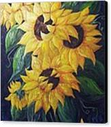 Dancing Sunflowers  Canvas Print