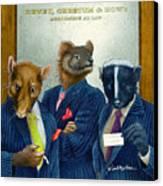 Dewey Cheetum And Howe... Canvas Print