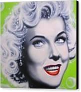 Doris Day Canvas Print by Alicia Hayes