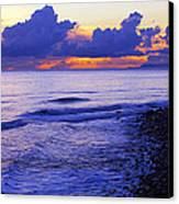 Dusk At County Line Canvas Print by Ron Regalado