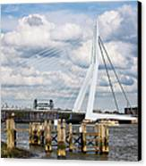 Erasmus Bridge In Rotterdam Canvas Print