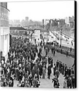 Fans Leaving Yankee Stadium. Canvas Print