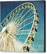 Ferris Wheel Retro Canvas Print