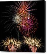 Fireworks  Canvas Print by Saija  Lehtonen