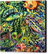 Fish Tales IIi Canvas Print by Ann  Nicholson