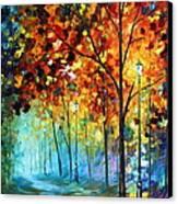 Fog Alley Canvas Print by Leonid Afremov