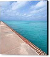Fort Jefferson At Dry Tortugas National Park Canvas Print by Jetson Nguyen