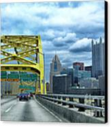 Fort Pitt Bridge And Downtown Pittsburgh Canvas Print
