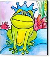 Frog Prince Canvas Print by Debi Starr