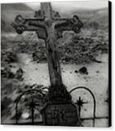 Ghost Town Cross Canvas Print