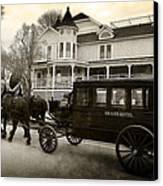 Grand Hotel Taxi Canvas Print by Scott Hovind