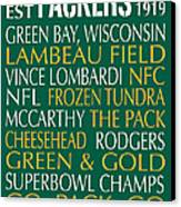 Green Bay Packers Canvas Print