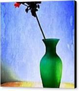 Green Vase Canvas Print by Donald Davis