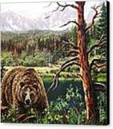 Grizzley Canvas Print by W  Scott Fenton