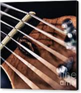 Guitar Strings Canvas Print by Stelios Kleanthous