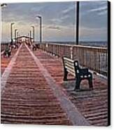 Gulf State Pier Canvas Print by Michael Thomas