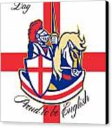 Happy St George Day Proud To Be English Retro Poster Canvas Print by Aloysius Patrimonio
