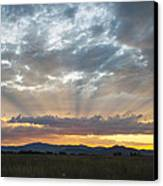 Heavenly Rays Of Light Canvas Print by Dana Moyer