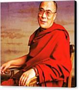 H.h. Dalai Lama Canvas Print by Jan W Faul
