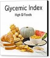 High Glycaemic Index Foods Canvas Print