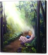 In God's Hand Canvas Print by Connie Townsend