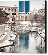 Indianapolis Canal Canvas Print by Beverly Cazzell