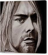 Kurt Cobain Canvas Print by Michael Mestas