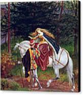 La Belle Dame Sans Merci Canvas Print by Walter Crane