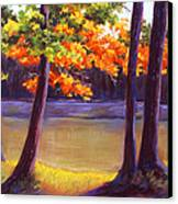 Lake Trees Canvas Print by MaryAnn Stafford
