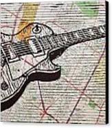 Les Paul On Austin Map Canvas Print