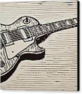 Les Paul Canvas Print by William Cauthern