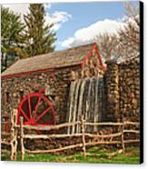 Longfellow's Wayside Inn Grist Mill Canvas Print by Jeff Folger
