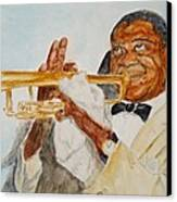Louis Armstrong 2 Canvas Print by Katie Spicuzza