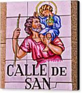 Madrid Street Sign Canvas Print by David Pringle