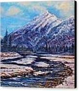 Majestic Rise - Earth Tones Canvas Print by Joseph   Ruff