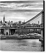 Manhattan Bridge Canvas Print by John Farnan